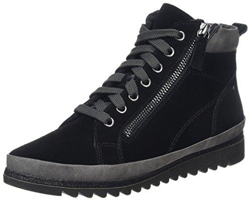 Jana Women's 25207 Combat Boots Black 4O1aHjK