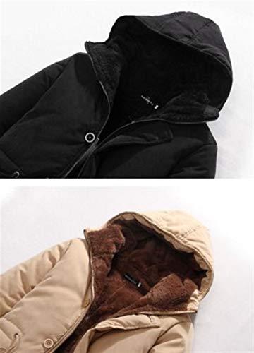 Invernale Uomo Comode Taglie Hx Cappuccio Giacca Abiti Esterno Parka Con Kaki Cappotto Fashion Da zqIwE8