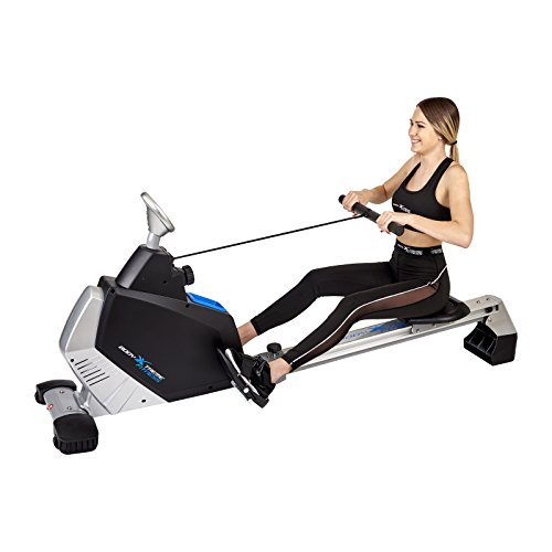 Body Xtreme Fitness - Rowing Machine Turbo 2000, Home Exercise Equipment, Fitness, Lose Weight, Cardio, Arm workout, Training and Exercise Rower + BONUS COOLING TOWEL