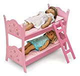 Badger Basket Blossoms and Butterflies Doll Bunk Beds with Ladder (fits American Girl dolls)