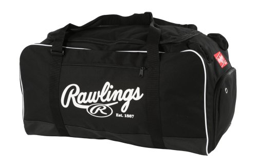 - Rawlings Covert Baseball or Softball Bat Duffel Bag, Covert-B-RAW, Black