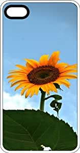 Short Sunflower Clear Plastic Case for Apple iPhone 4 or iPhone 4s by icecream design