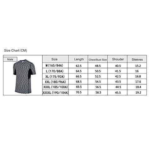 BeFur Camiseta unisex de cuello redondo de manga corta de secado rápido permeable al sudor y delgada azul(H) y verde claro(M)