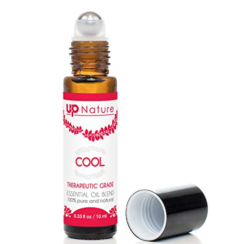 Cool Essential Oil Roll-On - Peppermint & Eucalyptus Oil - Anti-inflammatory - Joint, Muscle & Nerve Pain Relief - Easy Application Roller - High-Quality - Leak-Proof Rollerball - No Diffuser Needed!
