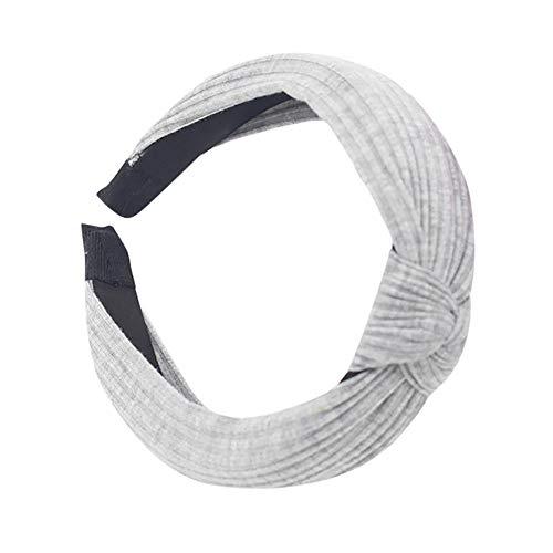 Respctful ♫♫Womens Assorted Cute Hard Headband Hair Band Polka Dot Stripe Bow, Lovely Ears Hairbands Hair Gray ()