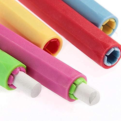 Laat Kreidehalter, Kreidehalterung, Schutzhülle aus Kunststoff, für Schule/Büro, 9,5 x 1,5 cm, 5 Stück