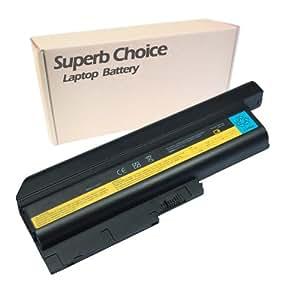Superb Choice - batería de 9 celdas para portátil IBM ThinkPad T61P W500 Z60M Z61E Z61M Z61P