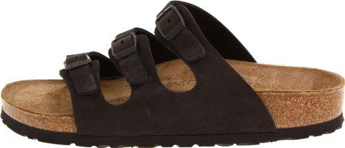 Birkenstock Women's Florida Soft Footbed Birko-Flor  Black Nubuck Sandals - 37 M EU / 6-6.5 B(M) US by Birkenstock (Image #5)