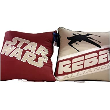 Star Wars 2pk Decorative Throw Pillows 15  X 15  - Starfighter and Rebel Alliance