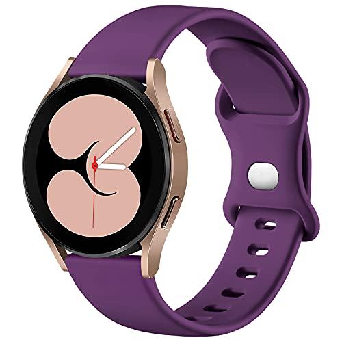 malla de silicona para samsung watch 4 violeta talle S