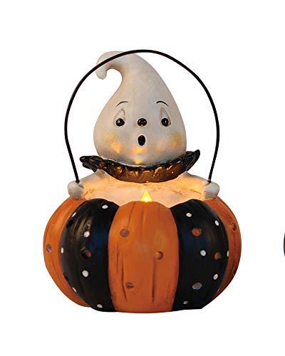 Transpac Imports D0838 Resin Pumpkin Peep Light Up Decor, Orange ()
