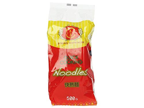 [ 4x 500g ] SPRING HAPPINESS Schnellkochende Nudeln / Quick Cooking Noodles / Wok / Mie