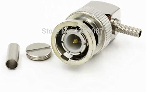 Mercury/_Group RF Coaxial Connectors 100PCS BNC Male Right Angle Crimp RG174 LMR100 RG316 RF Connector