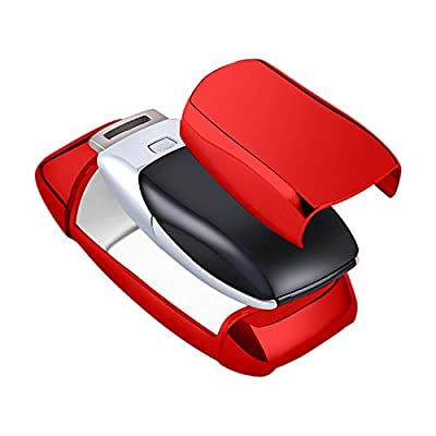 Mercedes Benz Key Fob Cover,Soft TPU Premium and Fashion Appearance Key Case Cover for Mercedes Benz E Class, 2020 up S Class, 2020 2020 W213 Keyless Smart Key (Benz Key Fob Cover-Red): Car Electronics