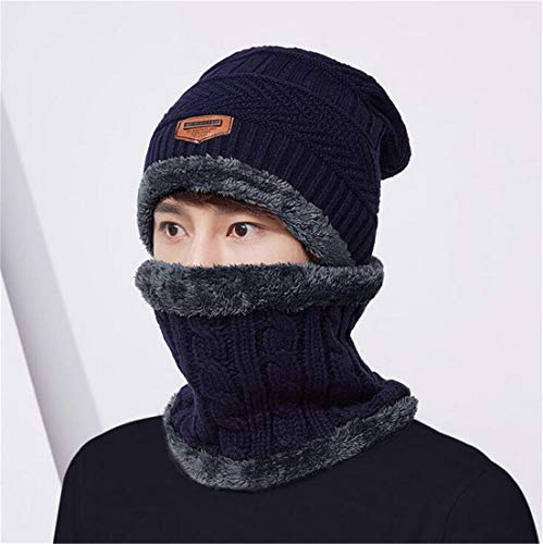 Fashion azul Wool Sets Mujeres Warm Winter Bufanda Aire 1 Mantiene Cap XIANGMAI Knitting Libre Wool Thermal Winter Thick Twinset Female al Cap HqYwTnRxa