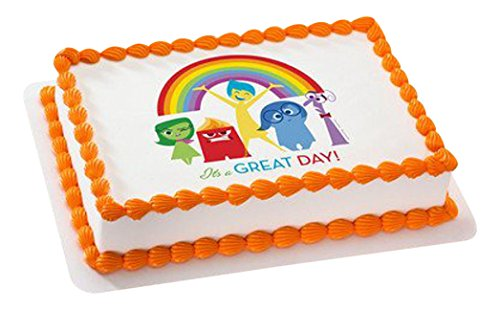"""Whimsical Practicality Inside Out It's a Great Day Edible Icing Image for Cakes 6"""" Round"""