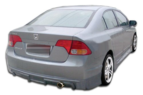 2006-2008 Honda Civic 4DR Duraflex Type M Rear Lip Under Spoiler Air Dam - 1 Piece (Overstock) (4dr Duraflex Fiberglass Type)