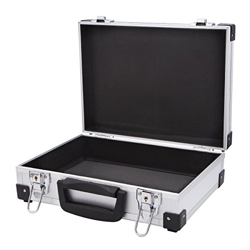 Professional Aluminum Hard Hand Gun Cases Office File Briefcase Outdoor Travel Flight Cases Home Tool Boxes with Quick Locks by ALUBOX (Image #1)
