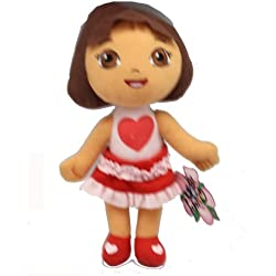 Small Size Dora the Explorer Love Dress Valentines Day Plush Doll