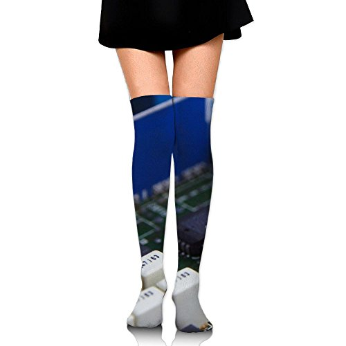 PengMin Computer Technology Pcb Circuits Cotton Compression Socks For Women. Graduated Stockings For Nurses, Maternity, Travel, Flight,Varicose Veins,Running & Fitness, Calf Support.