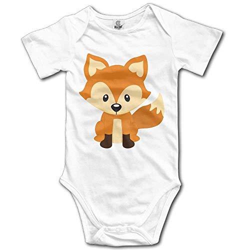 - ComfortFT Orange Fox Woodland Newborn Infant Baby Clothes T-Shirt Playsuit Union Suit Baby Short-eeve Bodysuit