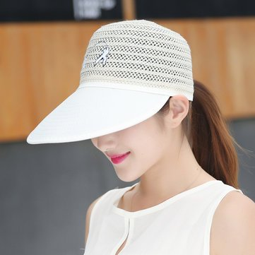 Buy New 2017 Women Ladies Summer Anti-UV Sun Protective Straw Hats Beach  Outdoor Visor Caps (beige) Online at Low Prices in India - Amazon.in 590640805d4