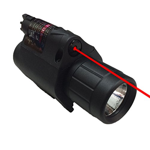 Pinty Tactical Red Laser Sight Flashlight Combo for 20mm Weaver Picatinny Rail