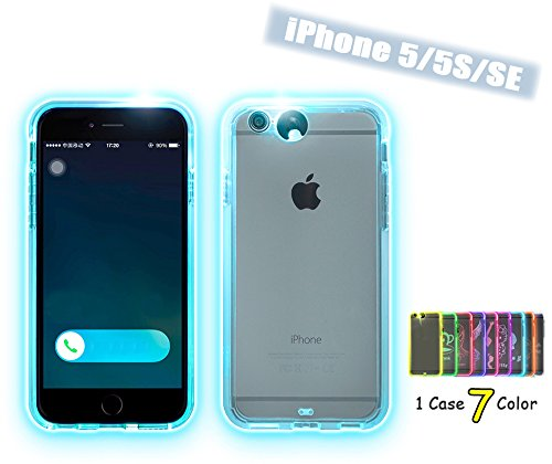 iphone 5s led case feceir apple iphone 5 5s se led flash 9 color 14822