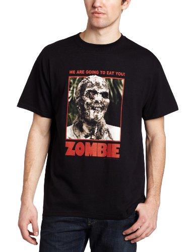 Impact Men's Zombie Full Color Poster T-Shirt, Black, Small