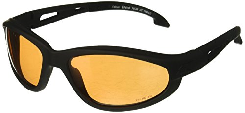 Edge Tactical Eyewear SF610 Falcon Matte Black with Tiger's Eye Lens