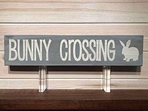 Bunny Crossing Wall Plaque Laser Engraved Personalized Custom Sign 163 by SignsByAllSeasons -