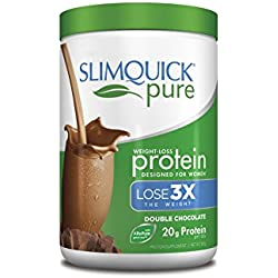 Slimquick Pure Protein Powder Chocolate,low calorie dietary supplement, 300 Gram-Lose 3x the weight (Packaging may vary)