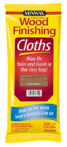 Minwax 30822 Wood Finishing Cloths Chestnut, 8 Premoistened Cloths Per Package by Minwax by Minwax (Image #1)