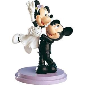 Dekoback 02-08-00148 - Figura de novios para tarta nupcial, diseño de Mickey y Minnie