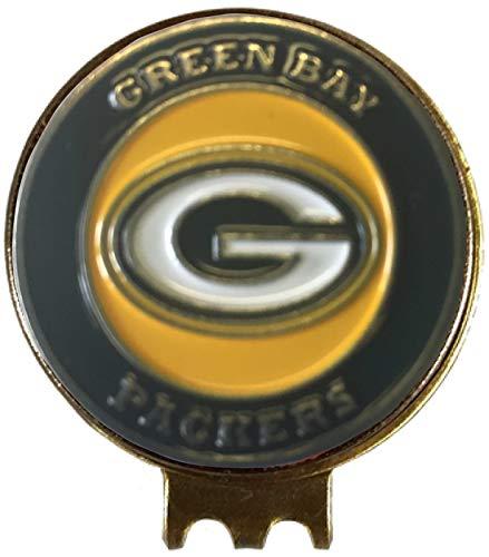 Green Bay Packers Golf Ball Marker ON HAT Clip Brass Gift IDEA NFL