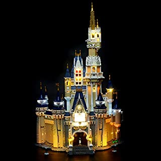 Briksmax Led Lighting Kit for Disney Castle - Compatible with Lego 71040 Building Blocks Model- Not Include The Lego Set