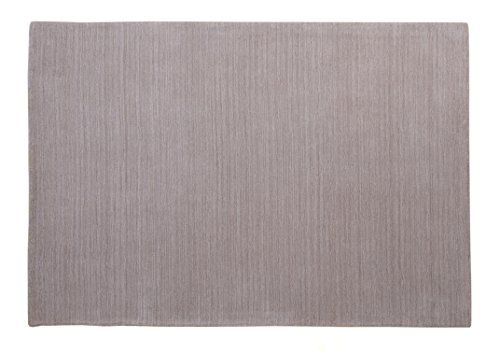 Kingsford - Contemporary Solid Color Wool Area Rug - 4 x 6 feet - Natural - Hand Tufted - Luxuriously Thick 100% Wool Pile - Thick Cotton Back - May Vary Slightly in Color from The Image Shown (Rugs Solid Color Hearth)