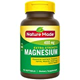 Nature Made Extra Strength Magnesium Oxide 400 mg Softgels, 60 Count (Packaging May Vary)