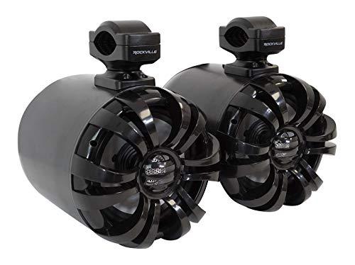 """(2) Rockville WB65 Black 6.5"""" 600w Metal Marine Wakeboard Swivel"""