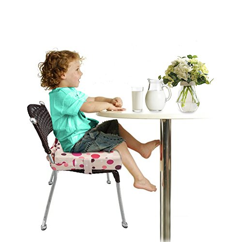 Pueri Dining Chair Pad Baby Kids Dining Chair Cushion Cover Portable Student Cushion (Pink)