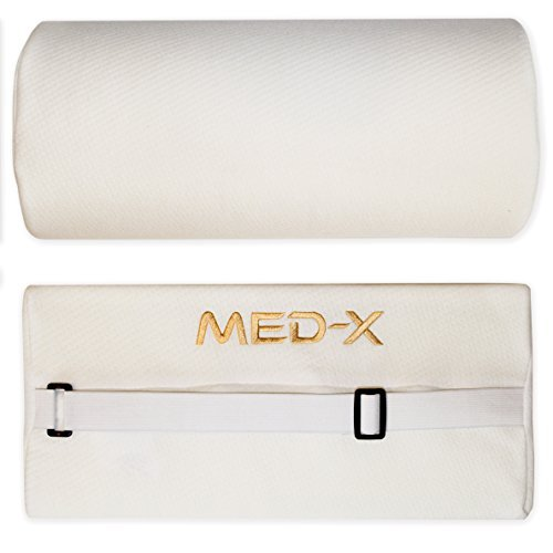 Lumbar Roll Back Support Pillow For Chair Backrest Cushion Office Pain Relief From |Degenerative Disc Disease Spondylolisthesis Piriformis Syndrome | Medical Grade by Med-X by MedX