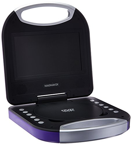 Magnavox MTFT750-PL Purple 7 Inch Portable DVD Player With R