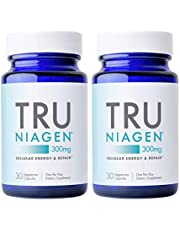TRU NIAGEN NAD+ Booster Supplement Nicotinamide Riboside NR for Energy Metabolism, Cellular Repair & Healthy Aging (Patented Formula) More Efficient Than NMN - 30 Count - 300mg (1 Month / 1 Bottle)