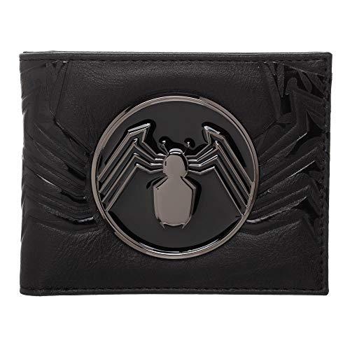Venom Spider Logo Bifold Wallet For Men