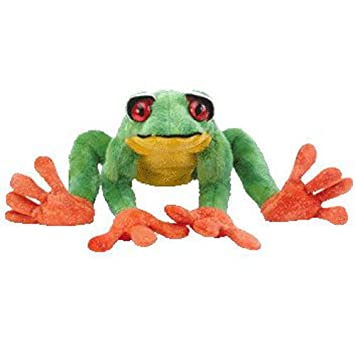 8a459611818 Amazon.com  TY Beanie Baby - PANAMA the Tree Frog (9.5 inch) - MWMT s  Stuffed Animal Toy  Toys   Games