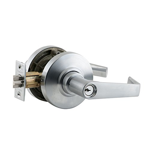 Schlage commercial AL70SAT626 AL Series Grade 2 Cylindrical Lock, Classroom Function, Saturn Lever Design, Satin Chrome (Function Cylinder Lock)