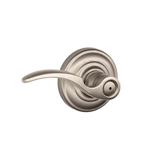 Schlage St.Annes Privacy Lever, Andover Rose, Satin Nickel