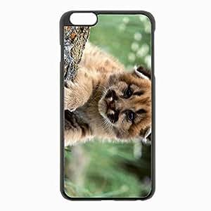 iPhone 6 Plus Black Hardshell Case 5.5inch - leopard cub predators big baby Desin Images Protector Back Cover