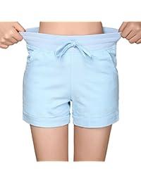 Women's Casual Linen Pocket Flat Front Shorts