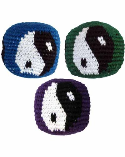 Set of 3 Hacky Sacks, Yin Yang